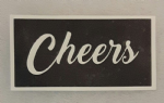 1 - 100  x Cheers word stencils for etching on glass  craft hobby glassware   gift present